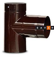 Тройник для дымохода эмалированный стальной DOVRE 90° Ø120 E6
