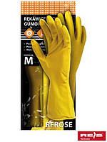 Перчатки защитные резиновые флокированные RFROSE Y