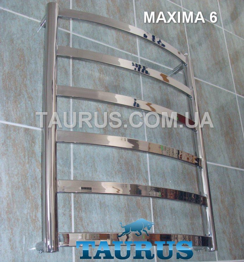 Полотенцесушитель для небольших комнат Maxima 6 /650x500 с плоскими перемычками 30х10 из нержавеющей стали