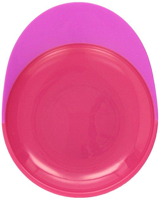 Тарелка на присоске Boon Catch Plate With Spill Catcher Pink/Purple