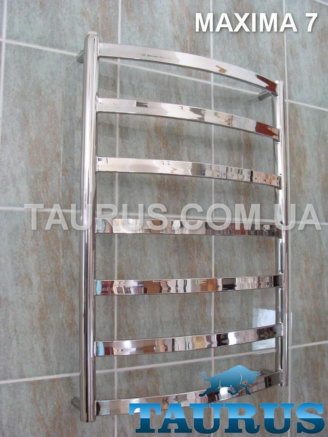 Популярный полотенцесушитель Maxima 7 / 750x500 из н/ж стали в Украине, с плоскими перекладинами 30х10. TAURUS