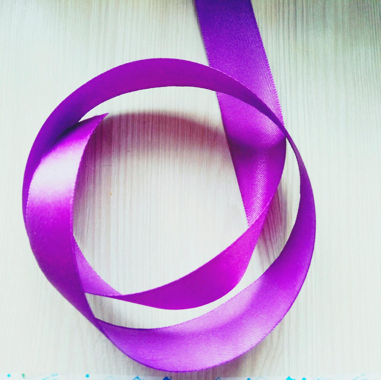 Лента атласная фиолет (25 мм) - 5 метров