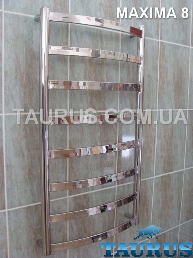 Полотенцесушитель Maxima 8 /850х500 из нержавеющей стали: комбинированный, электро, водяной от TAURUS Ukraine