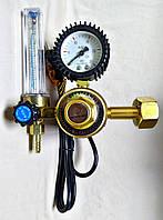 Регулятор газовый YQT-731L (углекислота) 36 В подогрев, ротаметр