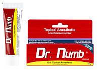 Крем анестетик для кожи Dr. Numb Original 30мл. Лидокаина 5% Прилокаин 5% Эпинефрин 0,1%