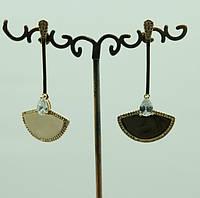 2351 Эксклюзивные серьги с цирконами (гвоздики) оптом. Ювелирные украшения.