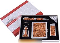 Подарочный набор ручка/брелок/зажигалка/портсигар №YJ-6332 SO