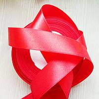Лента атласная красная (25 мм) - 5 метров