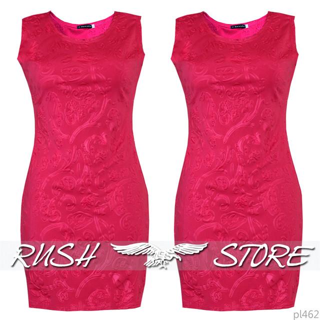 Платье 3D розовое