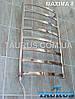 Неширокий полотенцесушитель Maxima 8 /850х450 с перемычками из плоской н/ж трубы 30х10. Стойка круглая 32 мм, фото 6