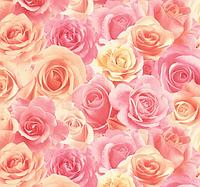 Обои, розы, крупные цветы, обои 3D на стену, винил на флизелине, горячего тиснения, 714-55, 1,06х10м