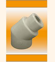 Угольник 45, внутренний/наружный, диаметр 25 мм