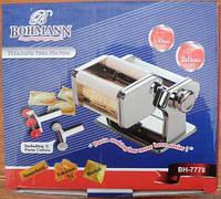 Лапшерізка, тісторозкатка і равіольниця, машинка для тіста 3 в 1 - Pasta Machine Bohmann BH-7778