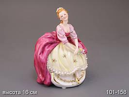 """Фарфоровая коллекционная статуэтка Lefard """"Девушка с цветами"""" 101-158"""