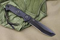 Нож туристический Vendetta Черный AUS8, черные ножны, Kizlyar Supreme