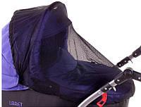 Москитная сетка для коляски на люльку черная, фото 1
