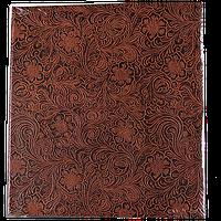 Семейный магнитный фотоальбом на 50 листов Цветок коричневый
