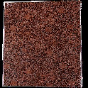 Семейный магнитный фотоальбом на 50 листов Цветок, коричневый
