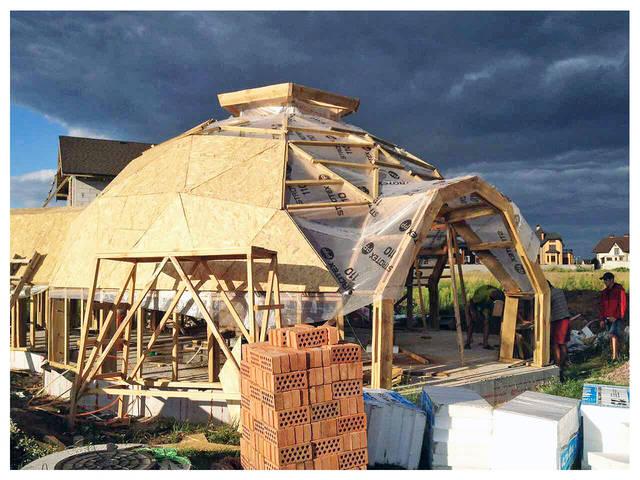 ОСБ плита в купольном домостроении