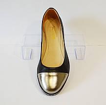 Женские балетки с серебристым носком Kento 006, фото 3