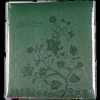 Магнитный фотоальбом Цветок на 50 листов зеленого цвета