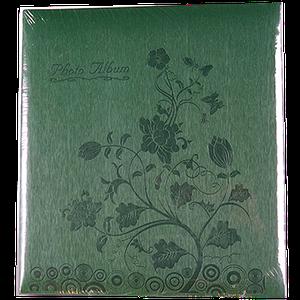 Магнитный фотоальбом Цветок на 50 листов, зеленый