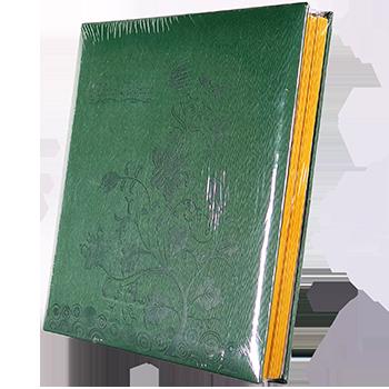 Магнитный фотоальбом Цветок на 50 листов зеленого цвета, фото 2