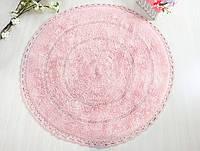 Коврик для ванной круглый d100 Irya - Genny розовый