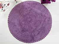 Коврик для ванной круглый d100 Irya - Genny фиолетовый