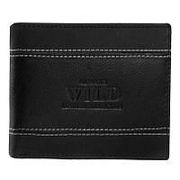 Мужское кожаное портмоне Always Wild N992 FH Black