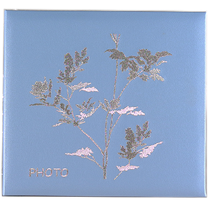 Семейный магнитный фотоальбом из искусственной кожи с вышивкой на 20 листов