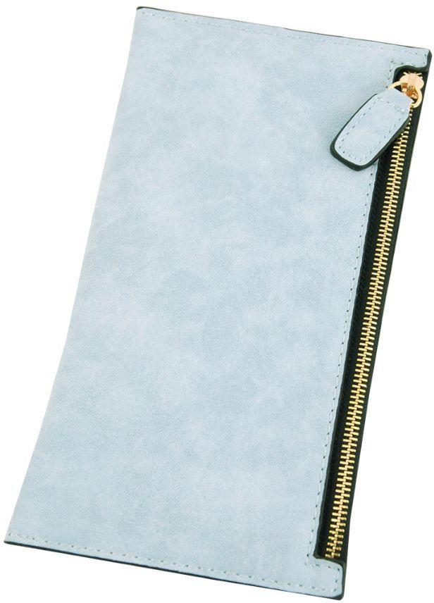 Женский стильный кошелек из искусственной кожи Traum 7201-75, голубой