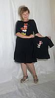 Ексклюзивна жіноча сукня міді з розписом на тканині 9 кольорів. Платье женское с ручной росписью миди