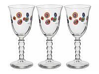 "Набор из 3 бокалов для вина 190 мл ""Мурано"" 650-680"
