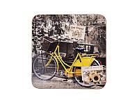 """Набор из 4 деревянных подставок под чашку """"Велосипед"""" 11 х 11 см"""