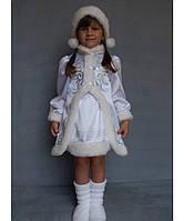 """Костюм """"Снегурочка"""" №3 на возраст от 3 до 6 лет (95-120 см) белый"""