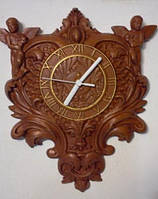 Часы резные с ангелами