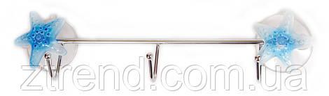 Вешалка из проволоки на присосках 3 крючка AWD02090215