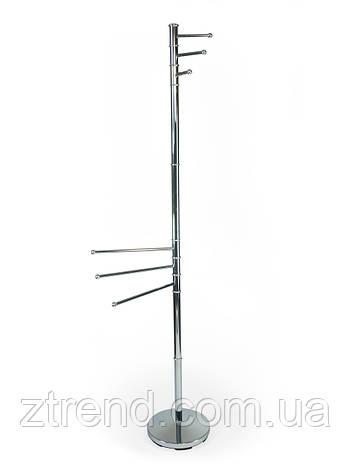 Вешалка для полотенец металлическая двойная высокая AWD02060033