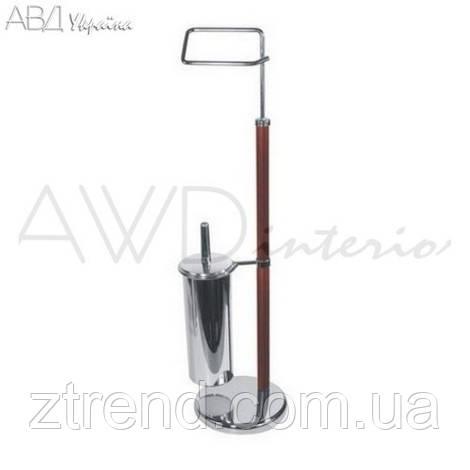 Стойка туалетная держатель туалетной бумаги и щетки AWD02070170