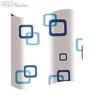 Шторка для ванной цветные прямоугольники AWD02100533