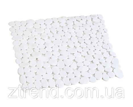 Коврик для душа антискользящий квадратный белый AWD02090809