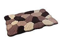 Коврик для ванной комнаты из микрофибры 50*80 коричневые камни AWD02160780