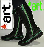 Сапоги кожаные женские демисезонные  Art, Испания 36,37,38,39,40,41,42р.