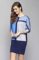 Женское платье Sari Zaps синего цвета. Коллекция осень-зима