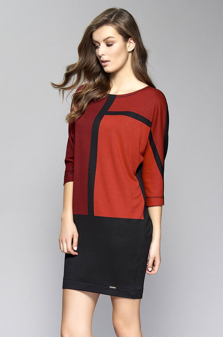 Женское платье Sari Zaps красного цвета. Размер L