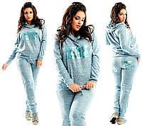 """Женский спортивный костюм ангора """"LSM"""" с кожаными вставками (большие размеры)"""