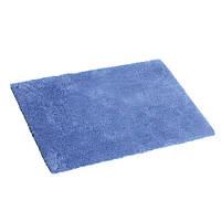 Коврик для ванной комнаты из микрофибры 50*80 синий AWD02161149