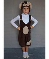 """Костюм """"Пёс Барбос"""" №1 на возраст от 3 до 6 лет (95-120 см) коричневый"""