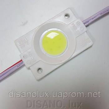 Светодиодный модуль COB led 2.4W 8000K, 12В, IP65  белый холодный